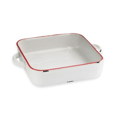 American Atelier 8.5-Inch x 10.5-Inch Vintage Baking Dish in Red