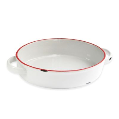 American Atelier 7.7-Inch x 11.7-Inch Vintage Baking Dish in Red