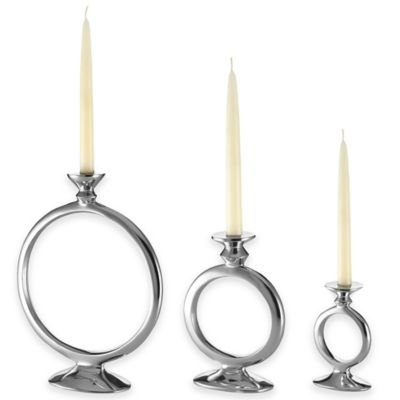 Lunares™ Totem Small O Candle Holder in Silver