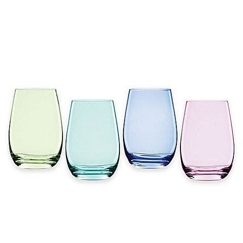 Buy marquis by waterford vintage ombre stemless wine glasses set of 4 from bed bath beyond - Waterford colored wine glasses ...
