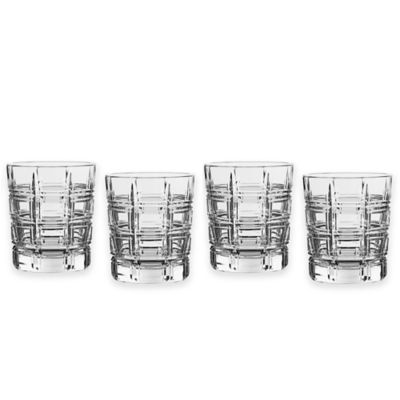 Marquis® by Waterford Crosby Barware 4-Piece Double Old Fashioned Glass Set