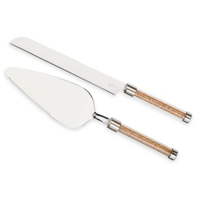 Crystal Knife and Server Set