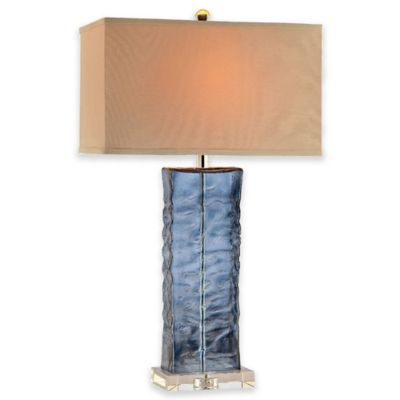Stein World Arendell Glass Table Lamp in Aqua Blue