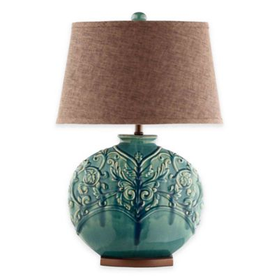 Stein World Rochel Table Lamp in Turquoise Green