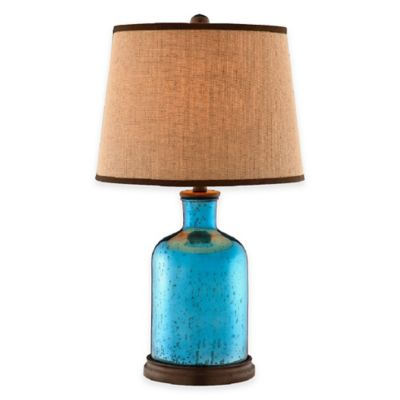 Stein World Havasu Mercury Glass Table Lamp in Azure Blue