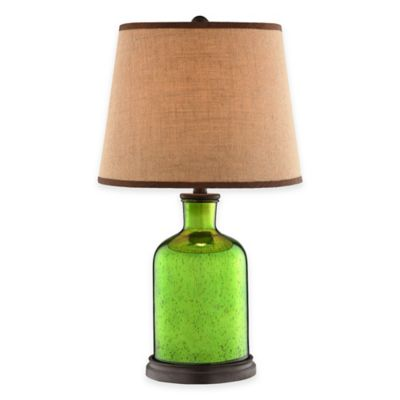 Stein World Wilson Mercury Glass Table Lamp in Speckled Green