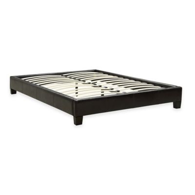 Ledge Twin Platform Bed in Chocolate