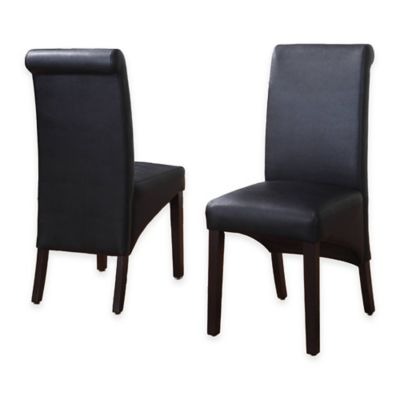 Cosmo Sleigh Back Side Chairs in Jet Black (Set of 2)