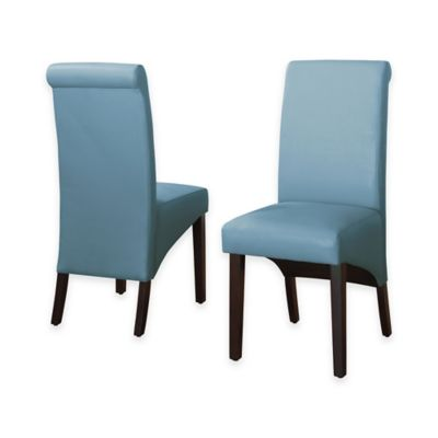 Cosmo Sleigh Back Side Chairs in Cloud (Set of 2)
