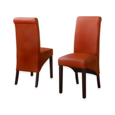 Cosmo Sleigh Back Side Chairs in Sienna (Set of 2)