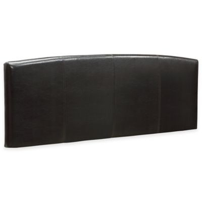 Ledge Upholstered Arch King Headboard in Chocolate