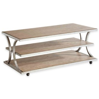 Stein World Palos Heights Cocktail Table in Weathered Oak