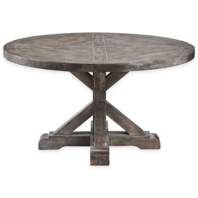 Bridgeport Round Cocktail Table in Weathered Grey