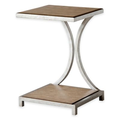 Stein World Palos Heights Chairside Table in Weathered Oak