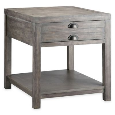 Stein World Bridgeport Rectangular End Table in Weathered Grey