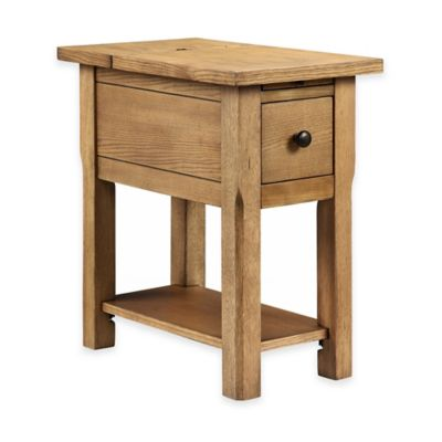 Stein World Stonebridge Chairside Table in Natural Oak