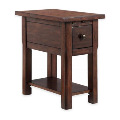 Stein World Stonebridge Chairside Table in Dark Brown