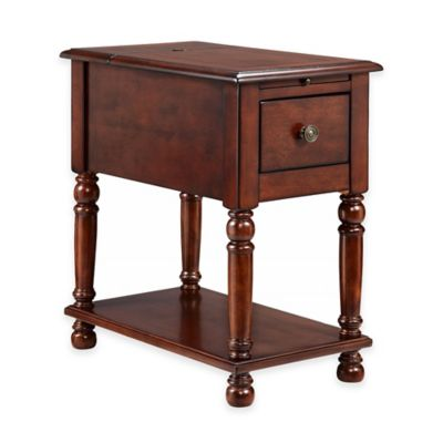 Stein World Eldora Chairside Table in Black Cherry