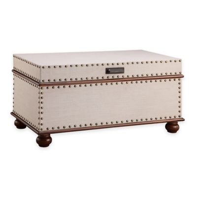 Stein World Sweeney Accent Trunk in Linen