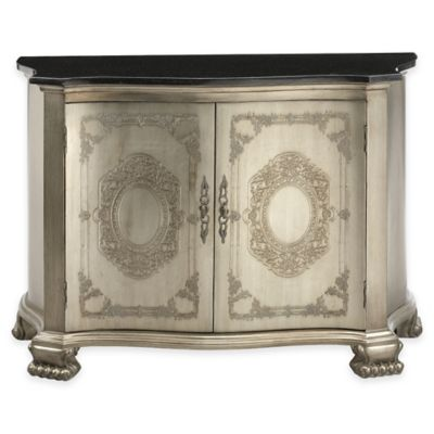 Stein World Beverly Accent Cabinet in Pewter/Black