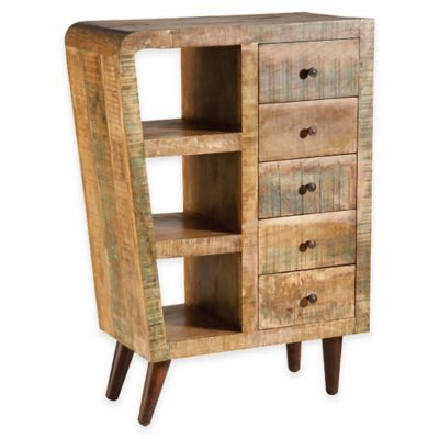 Orbit 5-Drawer Wood Chest in Natural