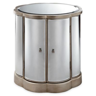 Silver Gold Accent Cabinet