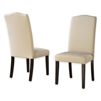 Camden Linen Parsons Dining Chairs with Slipcovers (Set of 2)