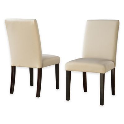 Sadie Linen Parsons Chair with Slipcovers