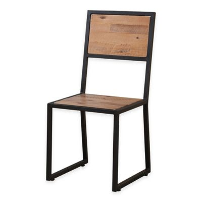 Weston Metal Chair in Natural/Black