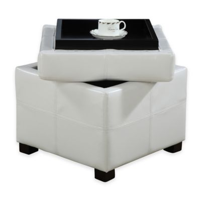 Urban Seating Storage Cube in White