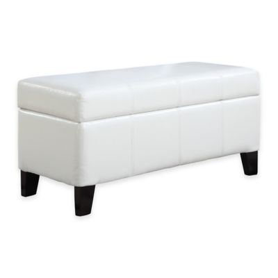 Urban Seating Storage Bench in White