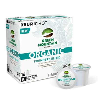 Keurig® K-Cup® Pack 16-Count Green Mountain Coffee® Organic Founder's Blend Coffee