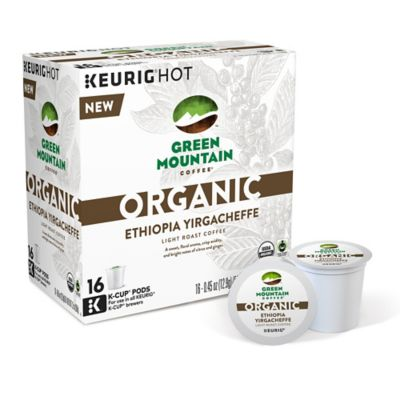 Keurig® K-Cup® Pack 16-Count Green Mountain Coffee Organic Ethiopia Yirgacheffe Coffee