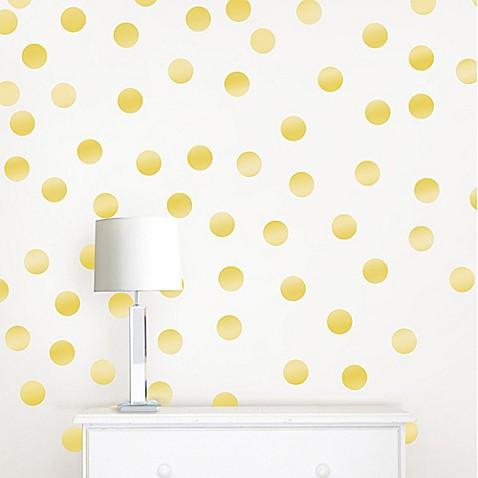 Wallpops 174 Metallic Gold Confetti Dots Wall Decals Bed