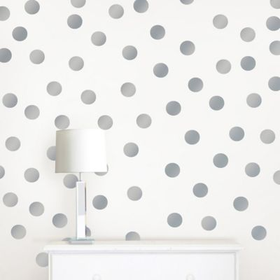 WallPops!® Metallic Silver Confetti Dots Wall Decals