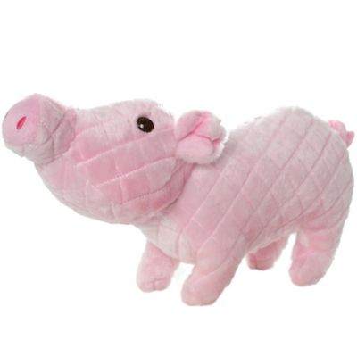 Mighty Massive Pig Durable Squeaky Soft Dog Toy in Pink