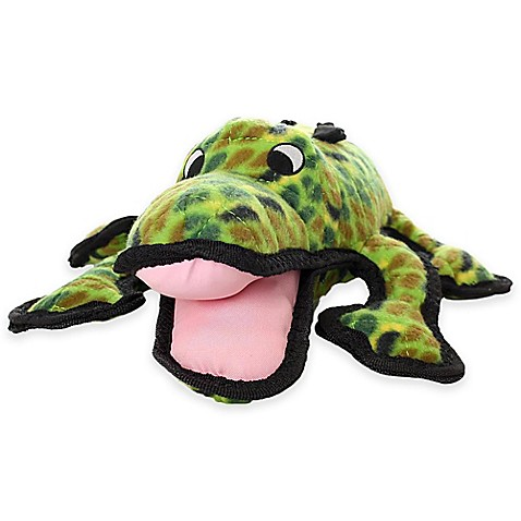 Buy Tuffy 174 Alligator Durable Squeaky Soft Dog Toy In Green