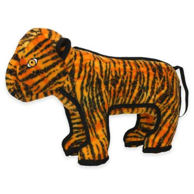Tuffy® Zoo Series Tatters the Tiger Soft Dog Toy in Black/Orange