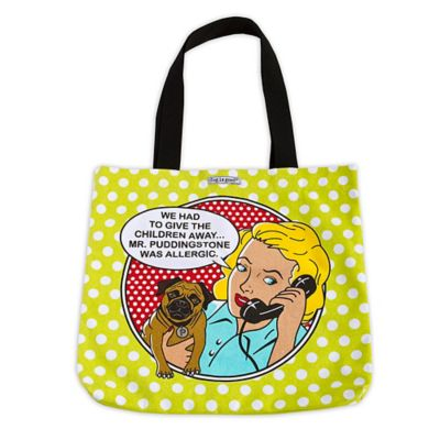 "Dog is Good® 16-Inch ""Had to Give the Children Away"" Tote in Lime"
