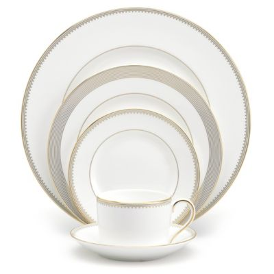 Vera Wang Wedgwood® Golden Grosgrain 5-Piece Place Setting