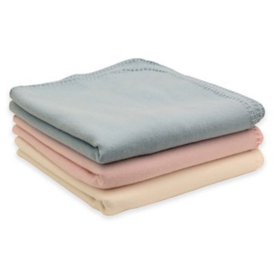 PUR Cashmere Velvet Baby Blanket in Light Pink