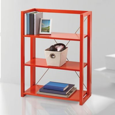 Wooden Folding and Stacking Bookcase in Orange