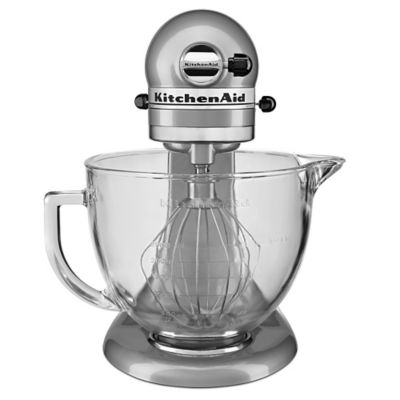 KitchenAid® 5 qt. Stand Mixer in Metallic Chrome with Glass Bowl