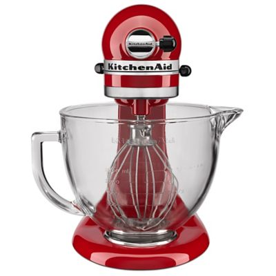 KitchenAid® 5 qt. Stand Mixer in Empire Red with Glass Bowl