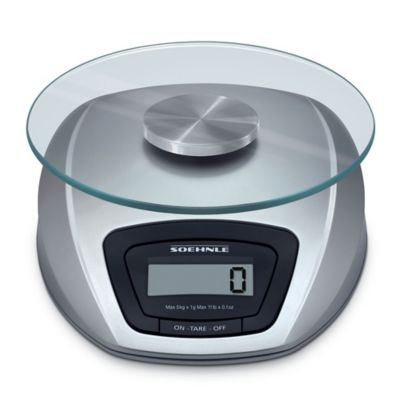 Soehnle SIENA Precision Digital Food Scale in Silver