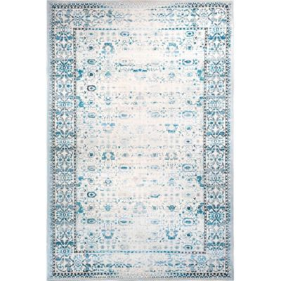 Sunderland Distressed Border 7-Foot 10-Inch x 10-Foot 2-Inch Area Rug in Blue