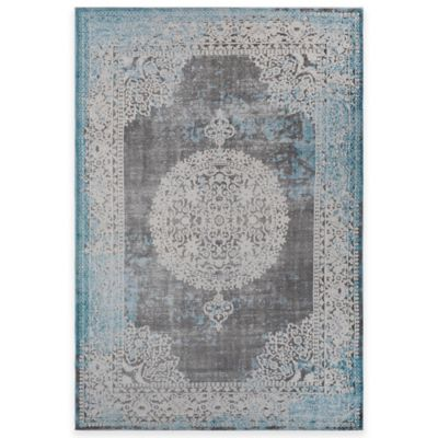 Sunderland Medallion 5-Foot 2-Inch x 7-Foot 2-Inch Area Rug in Grey/Blue