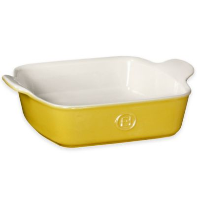 Emile Henry Modern Classics 9-Inch Square Baking Dish in Yellow