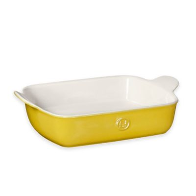 Emile Henry Modern Classics Small Rectangular 2.5 qt. Baking Dish in Yellow