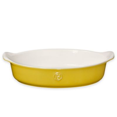 Emile Henry Modern Classics 2.6 qt. Oval Baking Dish in Yellow
